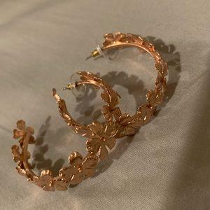 J.Crew floral hoop earrings